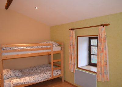 Gîte du Métayer - stapelbed in de vierpersoons-slaapkamer