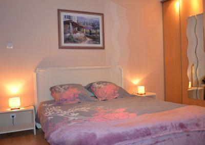 Gîte du Métayer - tweepersoonsbed in de tweepersoons-slaapkamer