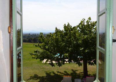 Gîte du Métayer - uitzicht vanaf de eerste etage
