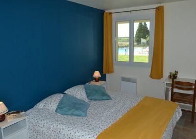 Gîte Le Terrefort – slaapkamer met tweepersoonsbed