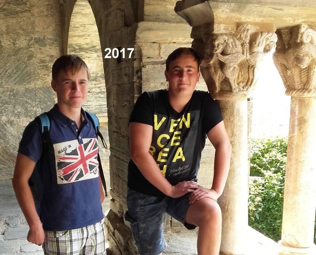 Stijn et Robin du Domaine Las Brugues en 2017