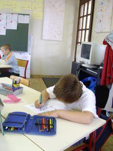 Stijn op school