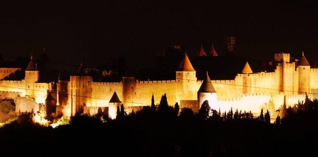 Vuurwerk in Carcassonne op 14 juli