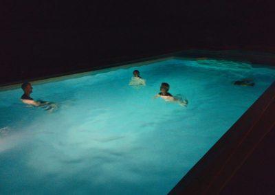 Baignade en soirée