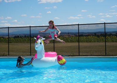 Beaucoup de plaisir à nager